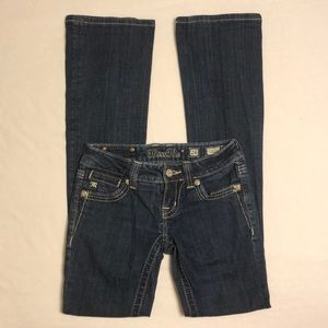 LIKE NEW Miss Me Boot Cut Jeans - Bling Pockets